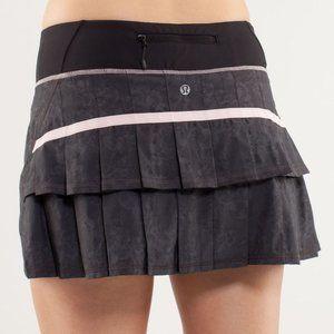 Lululemon Pace Setter Skirt Black Blush Quartz